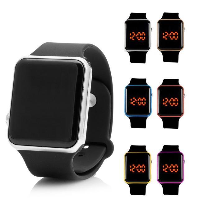 Merah Applered Source · Jam Tangan LED Jam Tangan Pria dan Wanita Strap .
