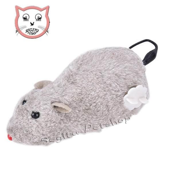 Mainan kucing dan anjing tikus jalan tanpa batrai cukup diputar seperti mainan anak-anak