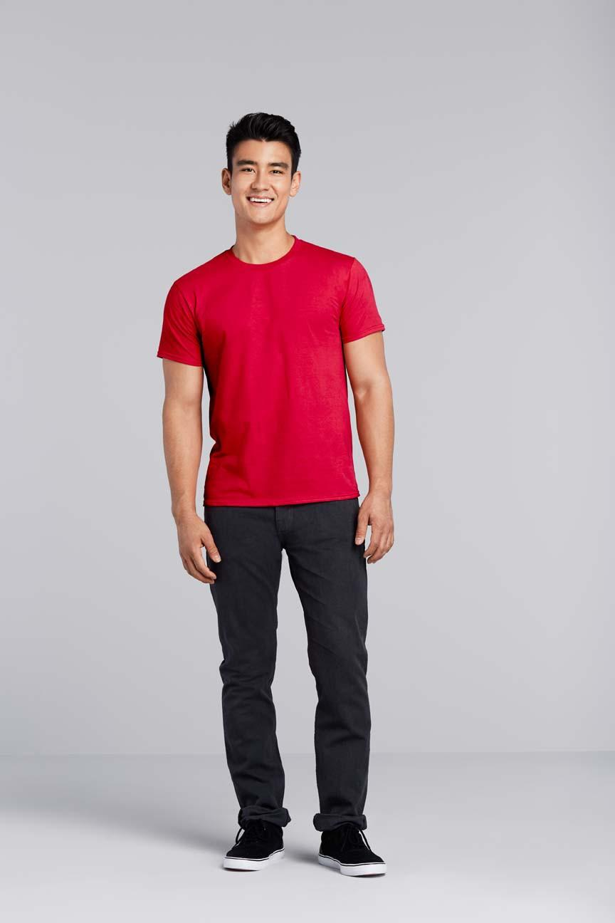 Gildan Softstyle 63000 Kaos Polos Original Red T Shirt Pria