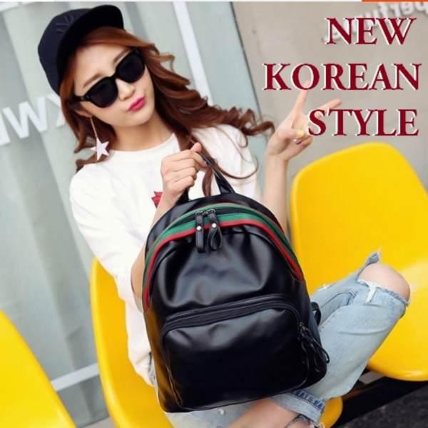 JCF TERBARU Tas IMPORT Korean Style Ransel Punggung Backpack Kulit PU Bagus  Fashion Branded Wanita Remaja f69dc60fd4