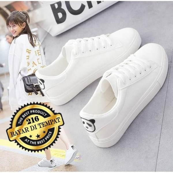 Sepatu Kets Putih Motif Panda   Kets Sneaker Casual Lucu   Sepatu Wanita  Santai 2578023c5c