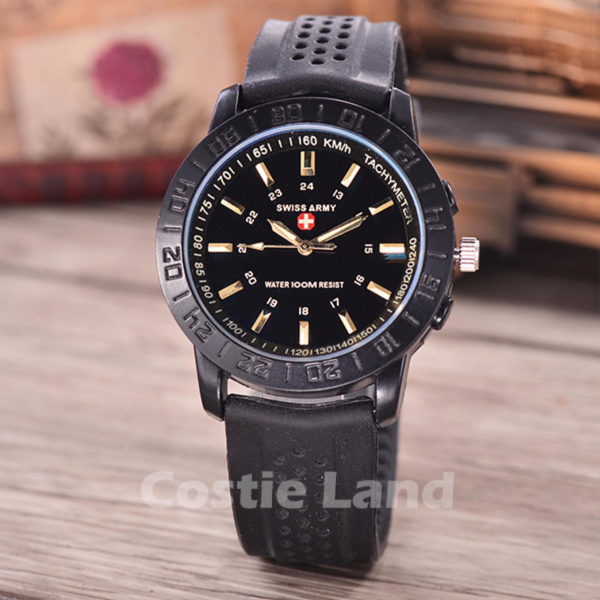 Lasebo Dual Time Jam Tangan Sport Pria Rubber Strap . Source · Swiss Army - Jam