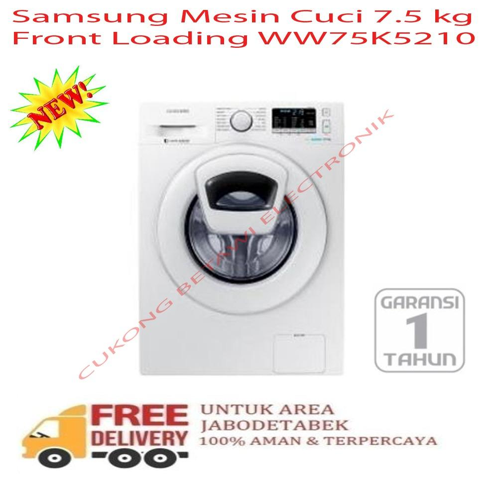 Samsung Mesin Cuci Top Loading Wa95j5710sg Abu Khusus Jadetabek Aqua Qw880xt Putih Biru 2 Tabung Ww75k5210yw