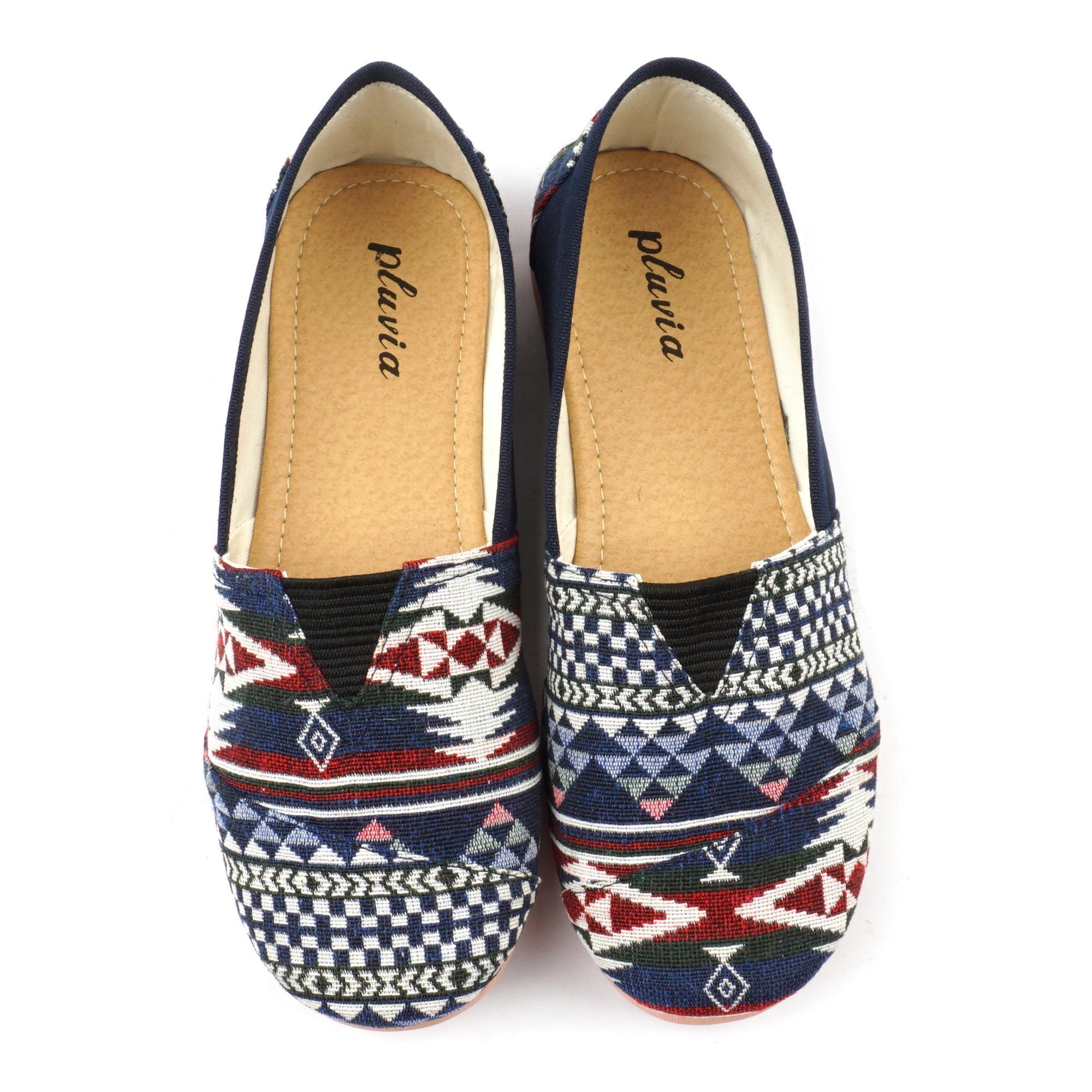 Sepatu Wanita Flat Shoes Slip On Kanvas Ns55 Abu Daftar Harga Kerja Lukis  Slipon Px Style Suster Songket Ns77 Navy
