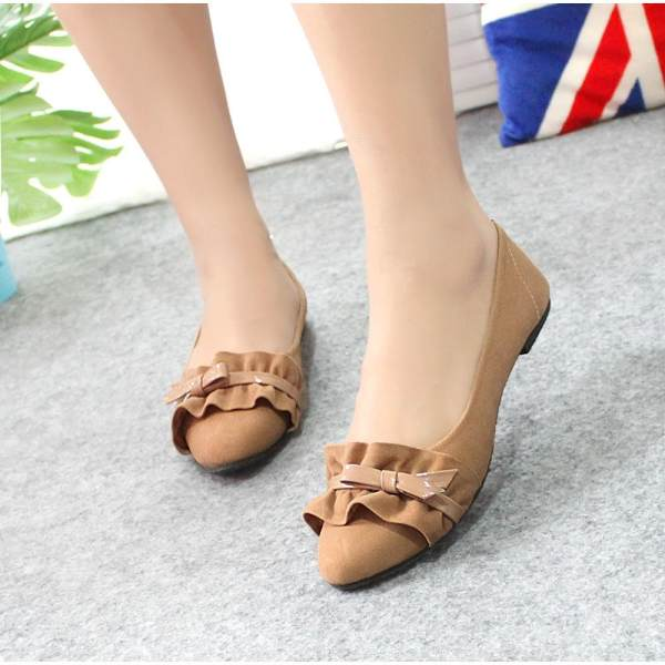Arlaine Wave Flat Shoes [Moca]