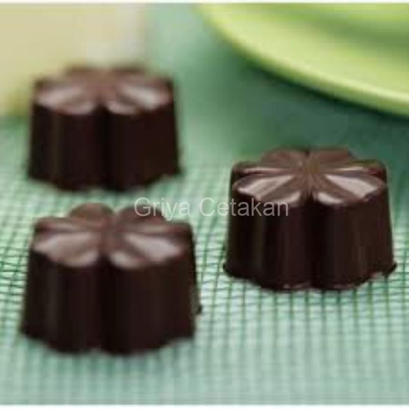 ... Promo Griya Cetakan Silikon Coklat Puding Mini Leaf Clover Coklat Murah