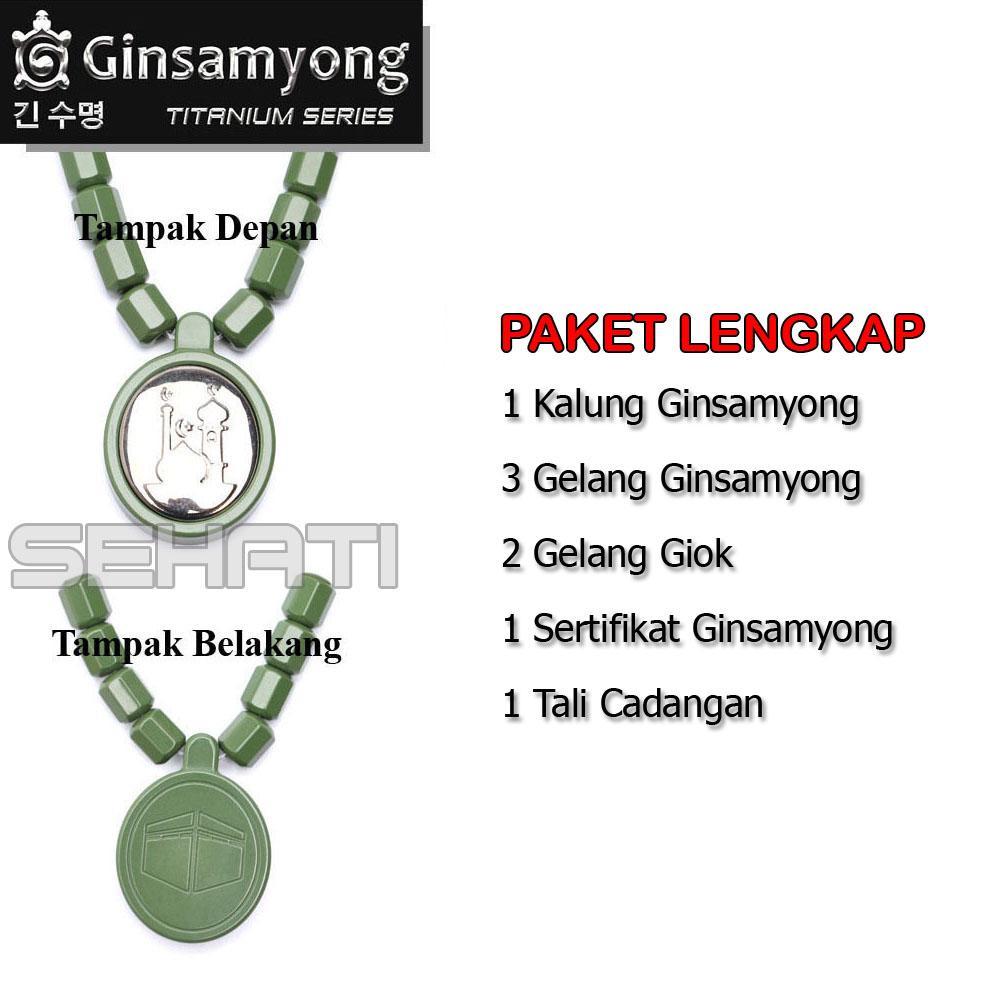 Ginsamyong Titanium Kalung Dan Gelang Kesehatan Daftar Harga Original Kura Dark Brown