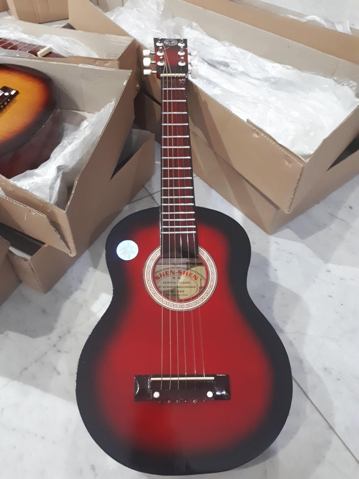 Fox Gitar Kecil Akustik Import Gratis Pick Packing Dus Gitarlele Promo Senar