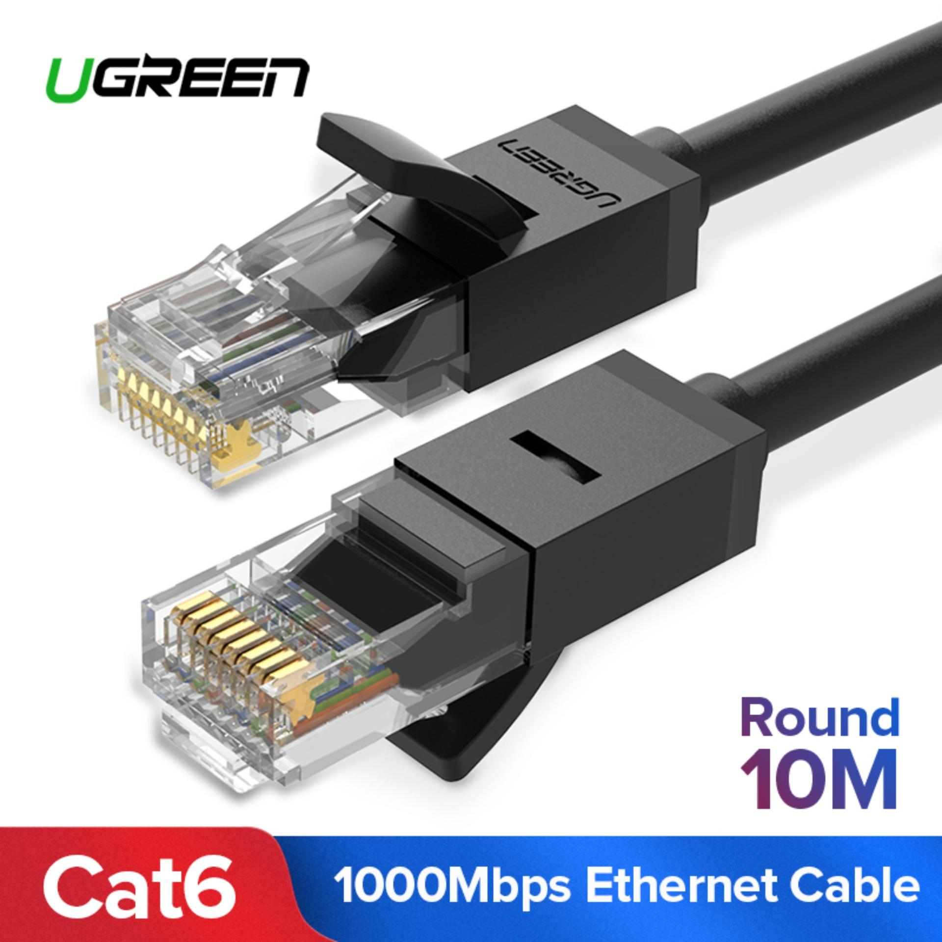 UGREEN 10Meter Cat6 Ethernet Patch Cable Gigabit RJ45 Network Wire Lan Cable Plug Connector for Mac