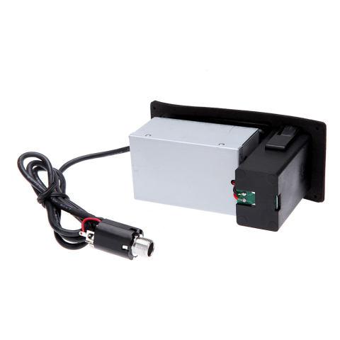 4-Band EQ Piezo Penyeimbang Pikap EQ-7545R Pra-Amplifier Penguat Preamp Penala