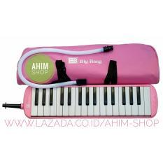Ahim Shop – Pianika 32 Tuts Huruf Notasi Plus Tas, Mouthpiece, Selang + Alat Tiup (Pink)