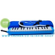 Ahim Shop – Pianika 32 Tuts Huruf Notasi Plus Tas, Mouthpiece, Selang + Alat Tiup (Biru)