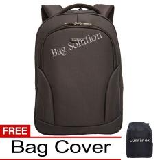 Luminox New Arrival Tas Ransel Laptop Tahan Air - Tas Pria Tas Wanita 7701 Backpack Up to 15 inch Bonus Bag Cover - Coffee b
