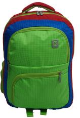 Navy Club Tas Ransel Laptop Kasual 3273 Tas Pria Tas Wanita - Tas Laptop Backpack Up to 15 inch Bonus Bag Cover - Merah