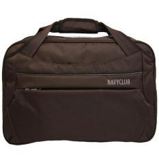 Navy Club Travel bag - Duffle bag - Tas Pakaian Tas Pria Tas Wanita (Tas jinjing Dan Tas Selempang) 2029 - Coffee