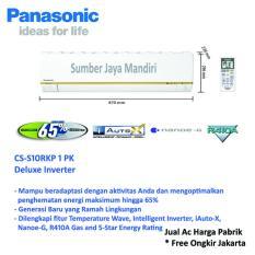 Ac Panasonic Split Deluxe Inverter CS-S10RKP 1 PK - Putih