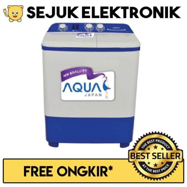 Aqua QW 771XT Mesin Cuci 2 Tabung 7Kg Putih FREE ONGKIR KHUSUS JAKARTA