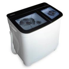 Denpoo DW-1309 PLATINUM Mesin Cuci Twin Tub 13Kg Diamond Drum (Hitam/Merah) - Khusus JABODETABEK