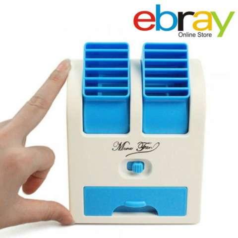 Ebray AC Mini USB Portabel Dengan Pewangi Perfume Double Blower