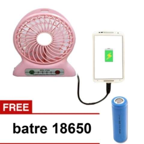 Twelven Kipas Angin Power Bank Portable Mini Fan 3 Speed Kabel Source · Kipas Angin USB