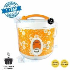 Niko Rice Cooker 3in1 Penanak Nasi 1.2Liter NK-RC12x Serbaguna - Oranye-Putih