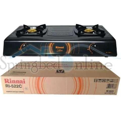 Paket Hemat Meja Kompor Stainless MT1 & Kompor Gas 2 Tungku Rinnai 522C 2