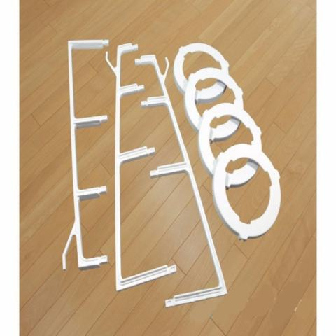 Portable Pan Tree / Rak Panci Dapur - Rak Panci 4 Susun Periuk Organizer Panci Peralatan