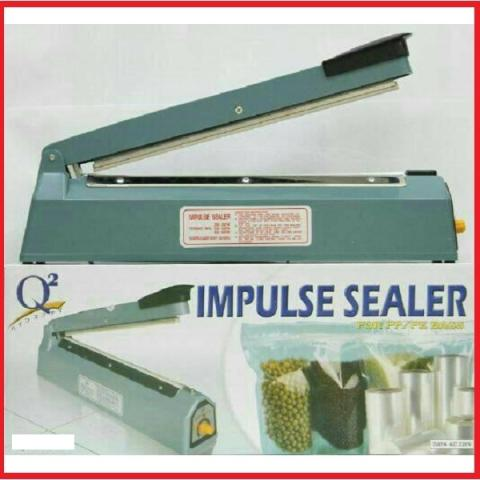 Q2 Impulse Sealer / Pres Plastik PFS200 20 cm - Biru