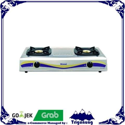 Rinnai RI 522 E Kompor Gas Stainless Steel Silver [ 2 Tungku ] 2