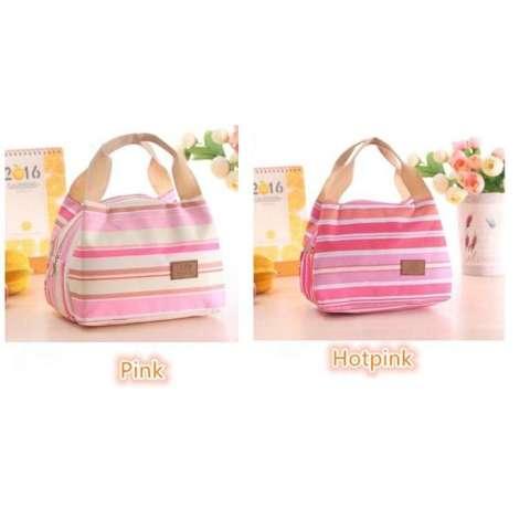 Strip-Lunch Bag Cooler Bag Tas Bekal Bonus Jelly Ice Cooler - 3C6593