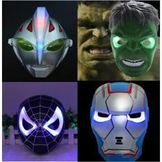Topeng Nyala LED Iron Man Patriot Power Rangers Spiderman Barang Unik China Reseller Murah
