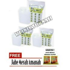Air Zam Zam water Safe Wrap - Paket 3 liter + Jahe Amanah