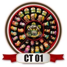 bestseller coklat lebaran karakter muslim muslimah untuk sajian lebaran merk cokelat pelangi kemasan candytray CT01