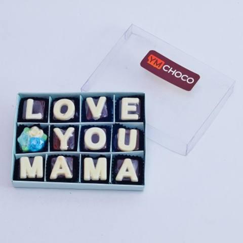Coklat Huruf Isi 12 Love You Mama
