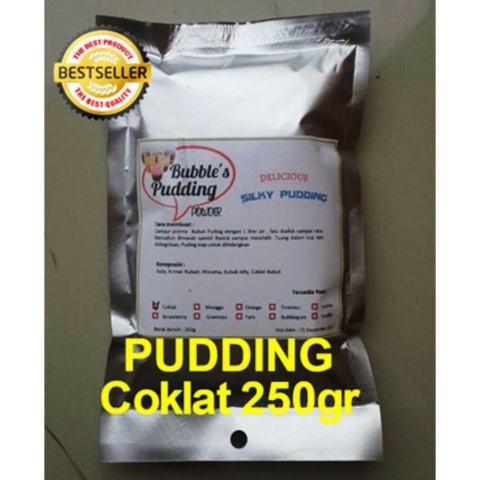FRIZCO BUBBLE'S Coklat Silky Pudding Powder 250gr, bubuk puding sutera