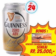 Guinness Zero ABV 330ml  1 Karton isi 24 @ 330ml + Bonus Voucher Cashback Tiket Pesawat Senilai Rp. 25.000,-