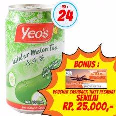 Yeo's - Minuman Winter Melon Tea / Teh Kundur 300ml  1 Karton isi 24 @ 300ml + Bonus Voucher Cashback Tiket Pesawat Senilai Rp. 25.000,-