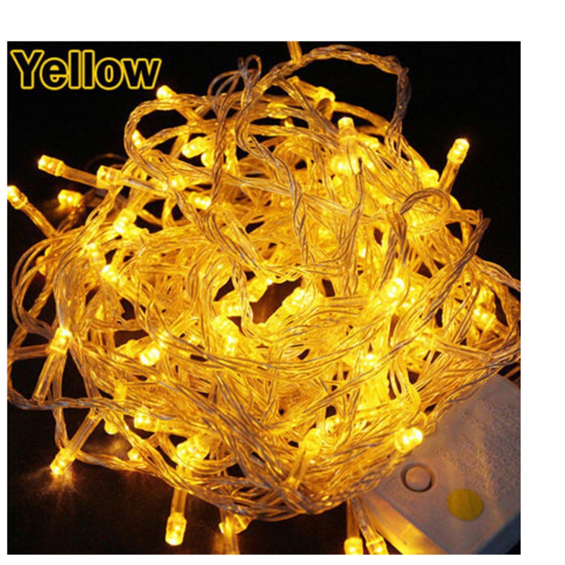 Lampu Tumblr 10 Meter (100 LED + Colokan Sambungan Kabel) Lampu Pesta Lampu Tidur