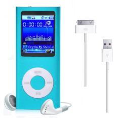 Player Musik 8GB MP3 MP4 Tipis Digital LCD Screen Radio FM Warna Biru