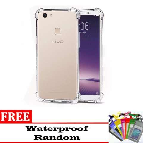 1 Paket Casing Handphone Anti Crack Elegant Softcase for Vivo V7 + (plus) -