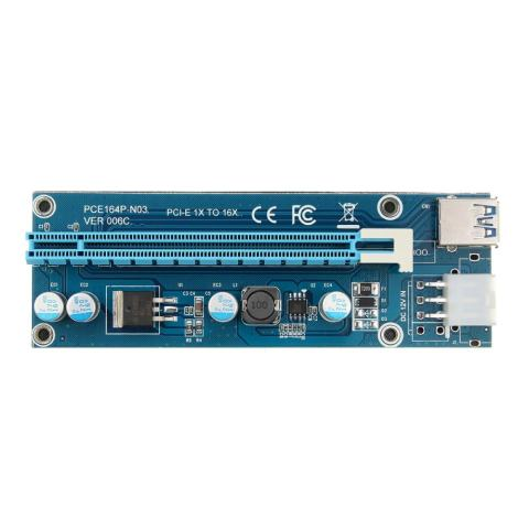 10 set USB 3.0 PCI - E 1 x untuk 16 x Powered Extender Riser kartu + SATA kabel adaptor 3
