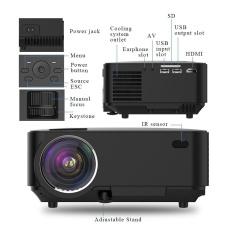 1080 P Home Teater Bioskop Multimedia Mini LED TV Proyektor Laptop Low Noise-Intl