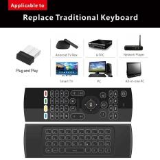 2.4G Backlight Air Mouse Wireless Keyboard 6 Sumbu Axis Remote Control Motion Sensing Game IR Tombol Belajar- INTL
