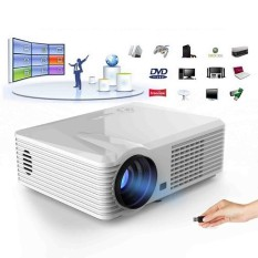 2500 Lumens Android 4.4.2 WIFI HD 1080 P LED AV HDMI TV Home Theater Projector-Intl