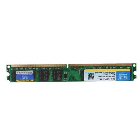 2 Pcs 2 GB PC2-5300 DDR2 667 MHz 240PIN Desktop Ram Memori untuk CPU AMD-Intl 3