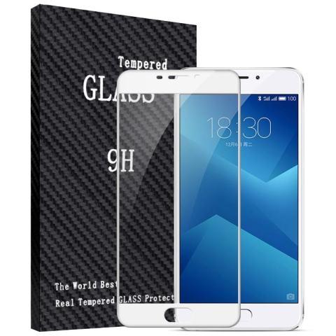 Home; 2 Pcs Full Cover Tempered Glass untuk Meizu M5 Catatan, Premium 3D Melengkung