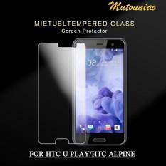 2 Pcs/lot untuk HTC Desire U Permainan/HTC Alpine 9 H Kaca Melunakkan Layar Pelindung Film-Internasional