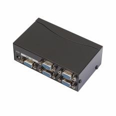 350 MHz Bandwidth 4 Port VGA SVGA Video Splitter 1 to 4 Adapter LCD Splitter Box - intl