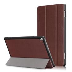 3 Folio Smart Stand Leather Flip Cover Case untuk Lenovo Tab 4 10 Plus Tb-x704f/N 10.1 Inch- INTL
