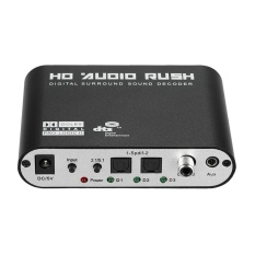 5.1 Audio Rush SPDIF Coaxial to 5.1/2.1 Channel DTS/AC-3 Audio Decoder Surround Sound Rush for STB DVD Player HD Player Xbox 360 US Plug - intl